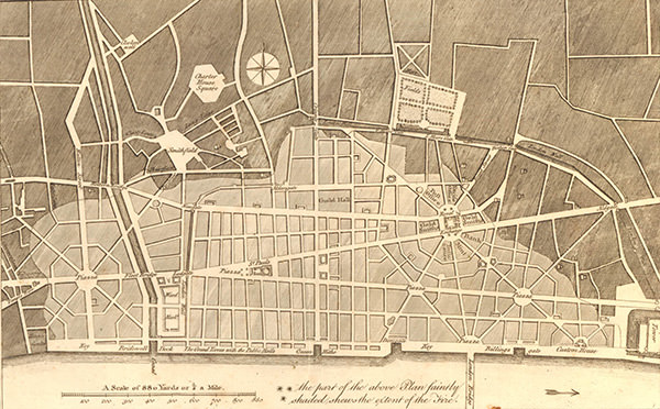 Christopher Wren's plan for rebuilding London
