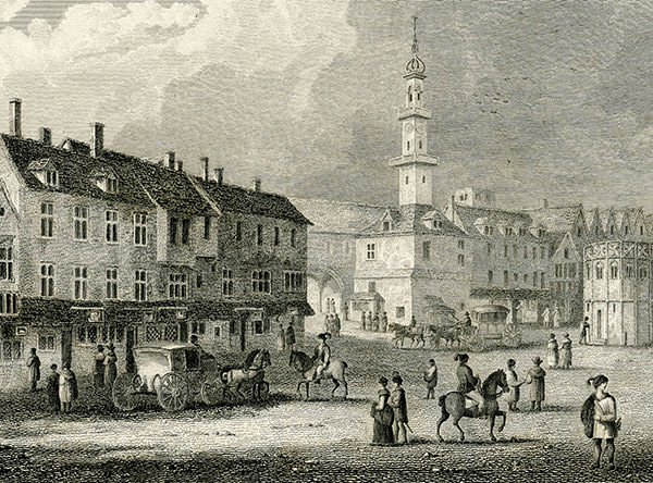 Cornhill, London, as it would have appeared around 1650