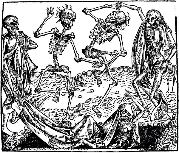 Danse Macabre (Dance of Death), 1493, by Michael Wolgemut (1434 - 1519)