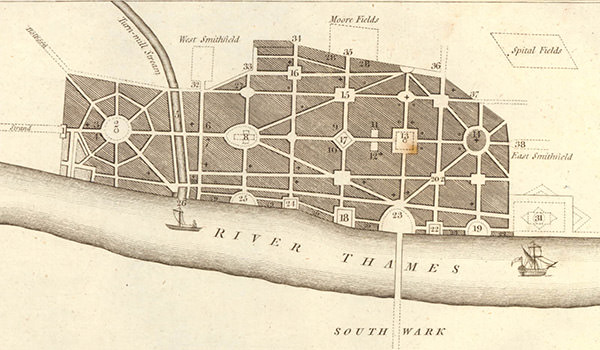 John Evelyn's plan for rebuilding London