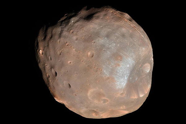 Image of Phobos captured by the Mars Reconnaissance Orbiter