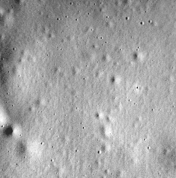 Final image sent back from the Messenger probe, 30 April 2015