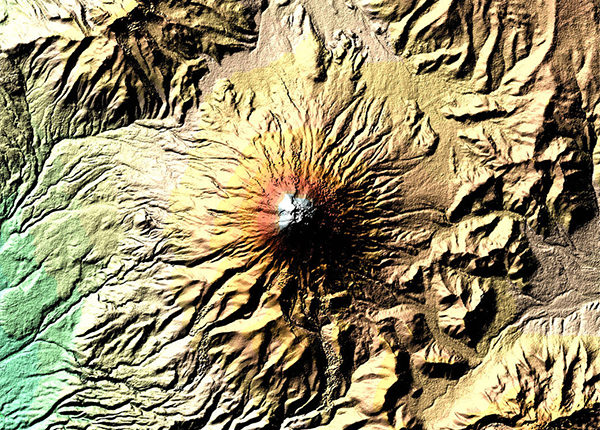 Mount Cotopaxi volcano in the the Andes in Ecuador