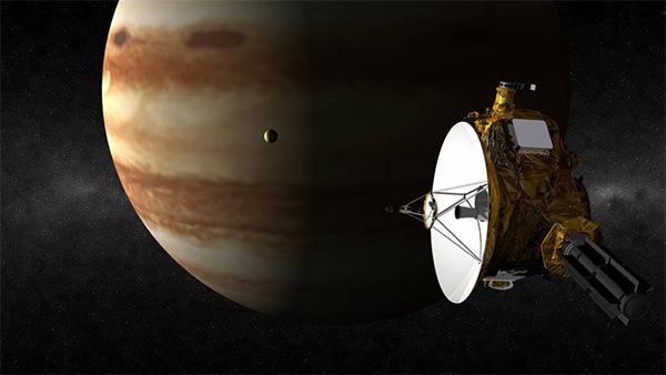 New Horizons flying by Jupiter