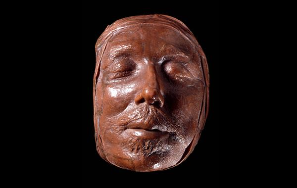Wax death mask of Oliver Cromwell ©Trustees of the British Museum.