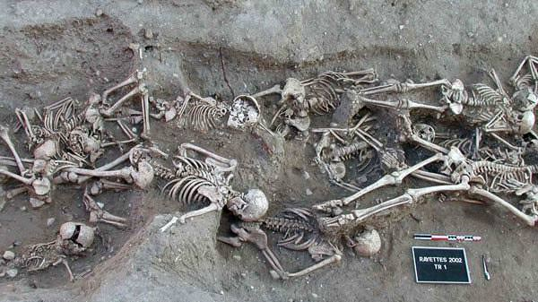 This burial pit excavated in Martigues, Marseille, France in 1998 contained around 200 human remains from a much later outbreak of plague, in 1720-21. Later research revealed evidence of Yersinia pestis, the bubonic plague bacillus.