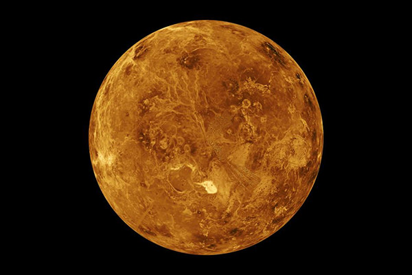 The first close up image of Venus, captured by Mariner 10 in February 1974