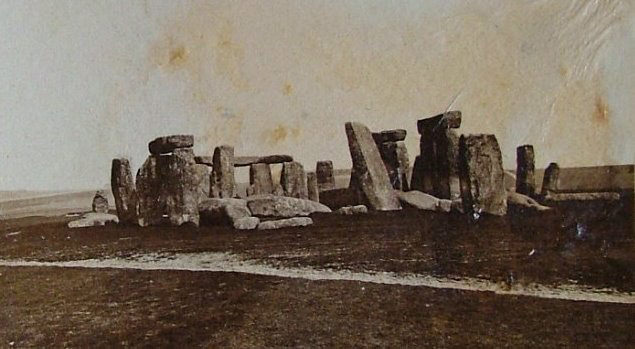 Stonehenge photographed in 1877.
