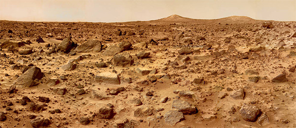 The surface of Mars, imaged by Mars Pathfinder on 04 July 4 1997