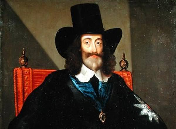 King Charles I at his trial, painted by Edward Bower circa 1650 (detail).