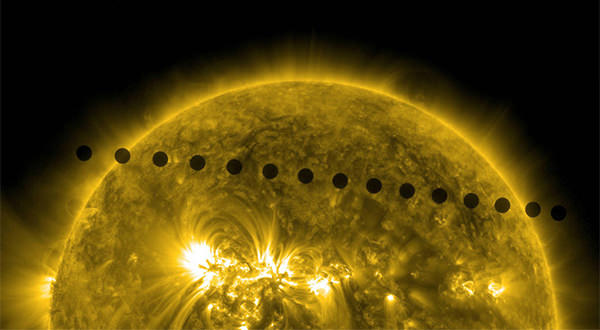 The transit of Venus across the face of the sun, captured in 2012